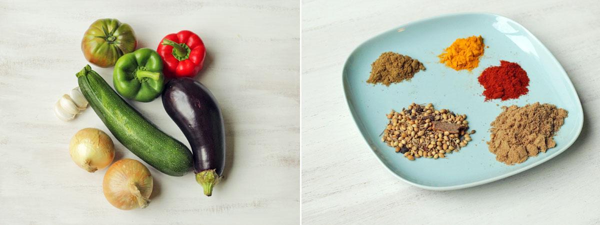 Indische groeneten kadai